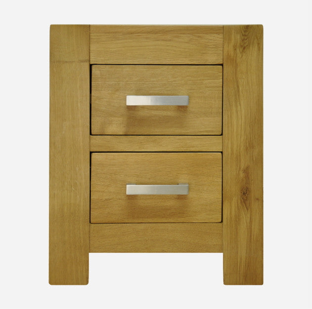 Bold Oak 2 Drawer Bedside