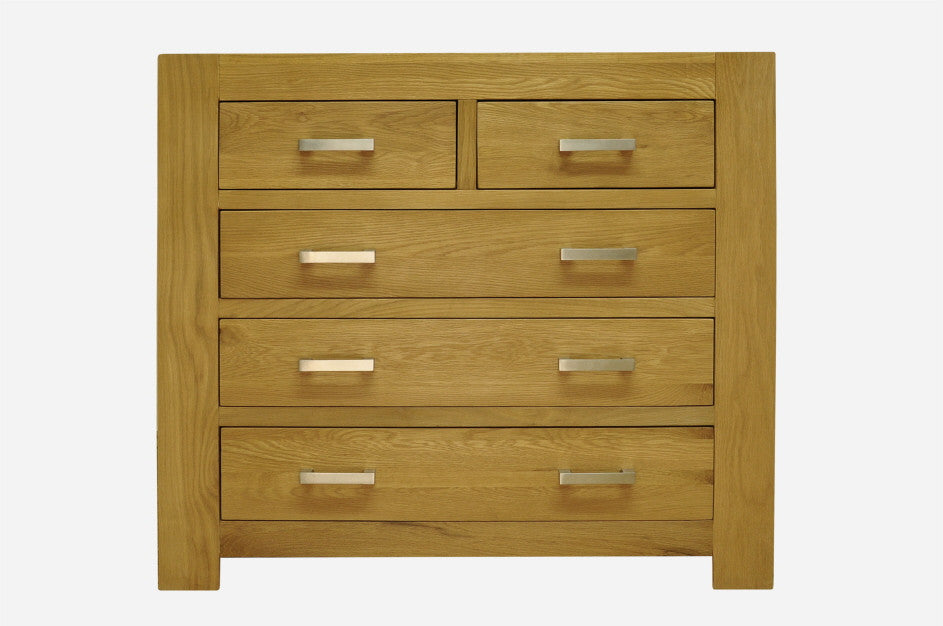 2 over 3 Chest of 5 Drawers