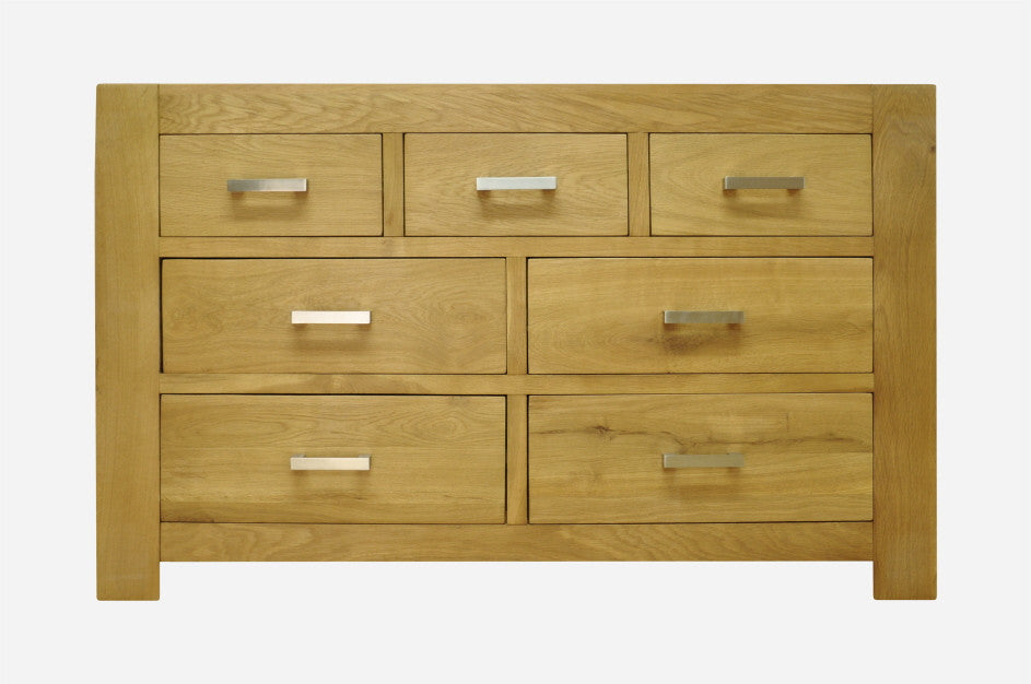 Bold Oak 7 Drawer Chest