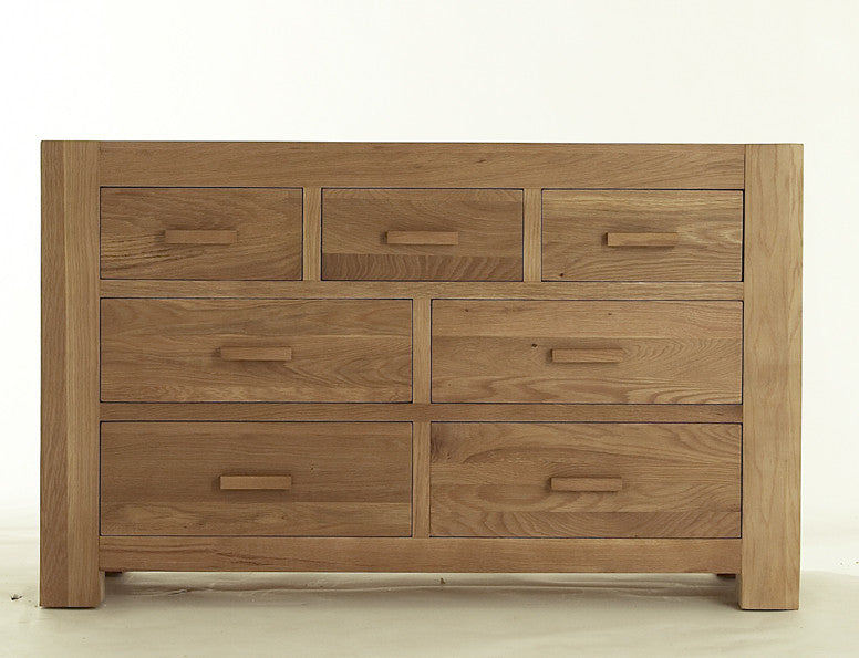 3 over 4 Chest of Drawers in Bold Oak
