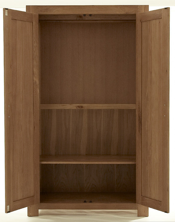 2 Door Wardrobe interior in Bold Oak