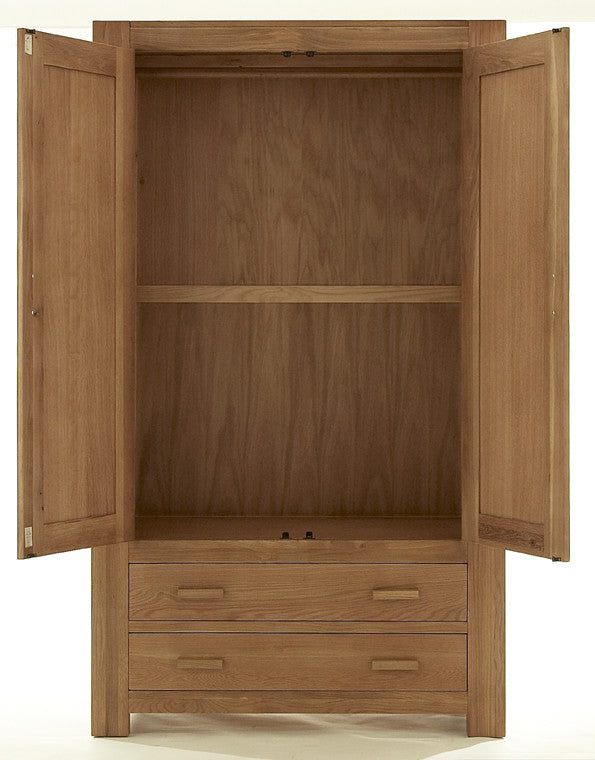 gents wardrobe in solid oak interior