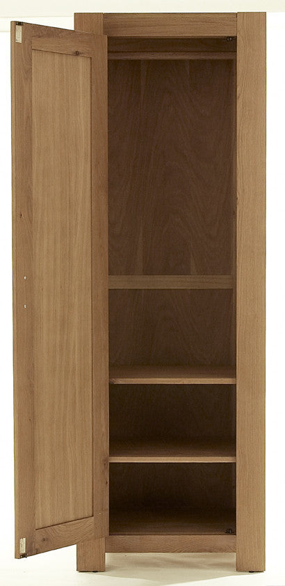 Single Wardrobe in Bold Oak Interior
