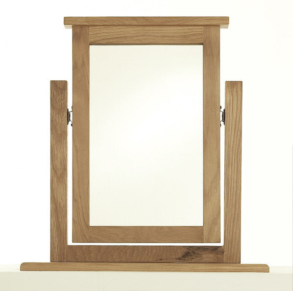 Vanity Mirror in Bold Oak by the Cheshire Bedroom Company
