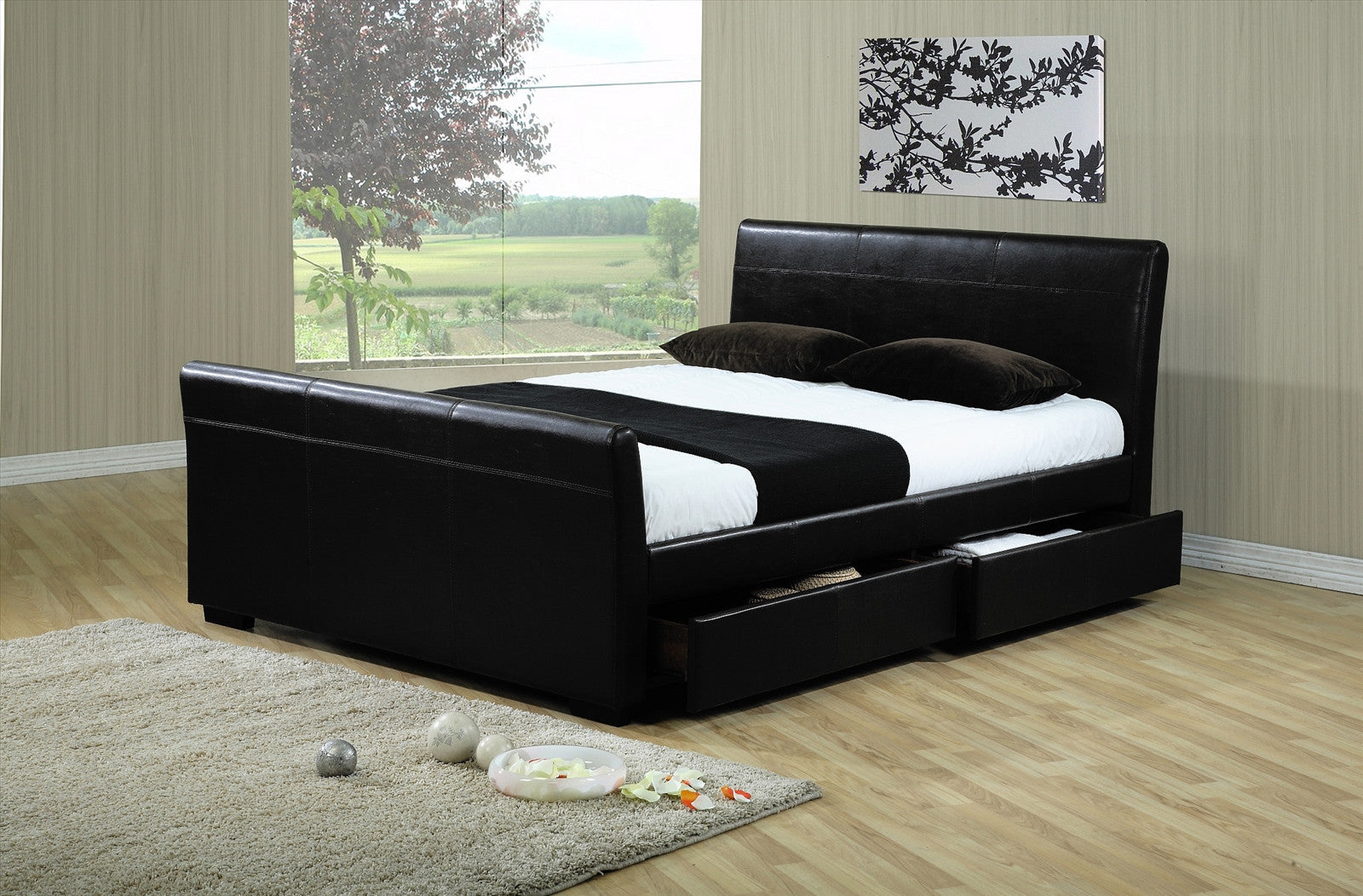Houston 4 Drawer Bed in Black
