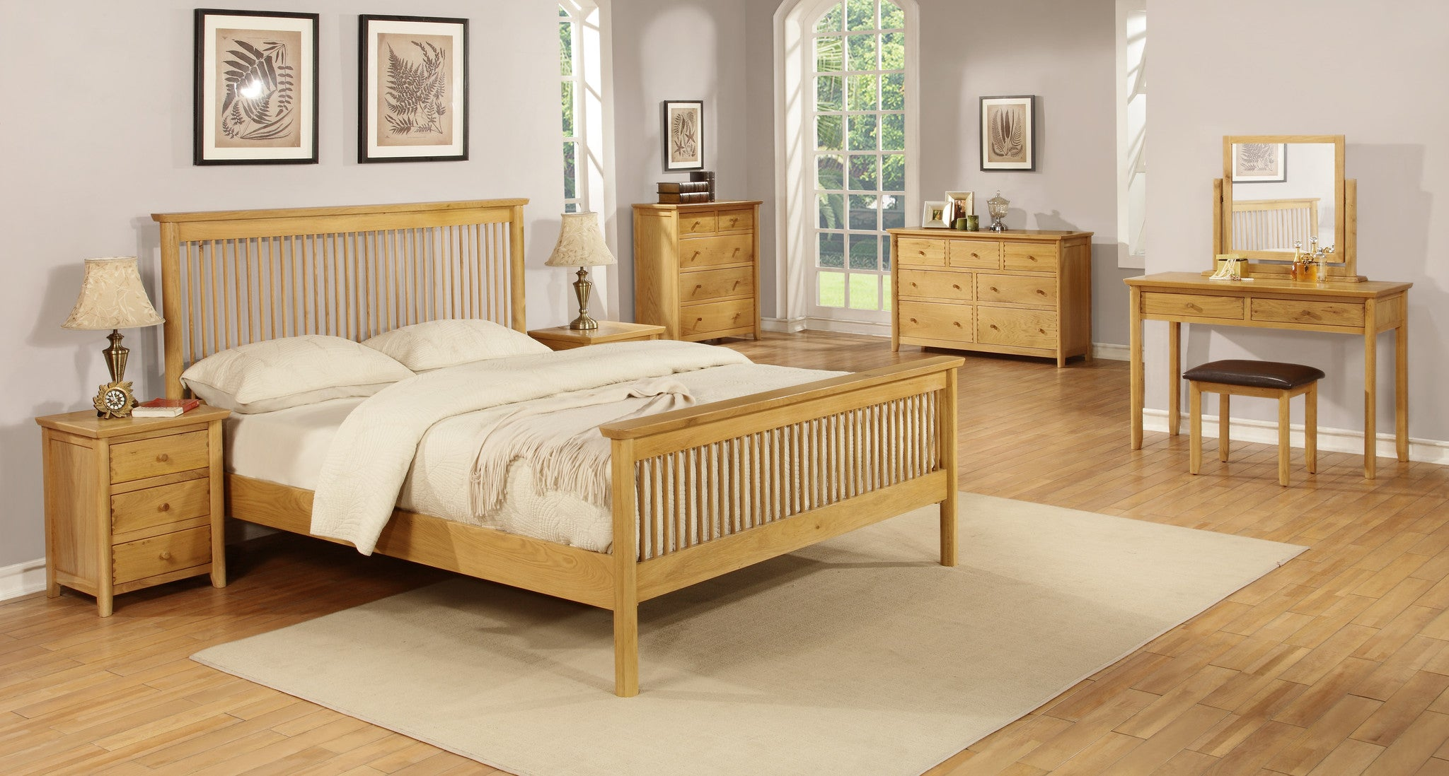 Hamilton solid oak Bedroom