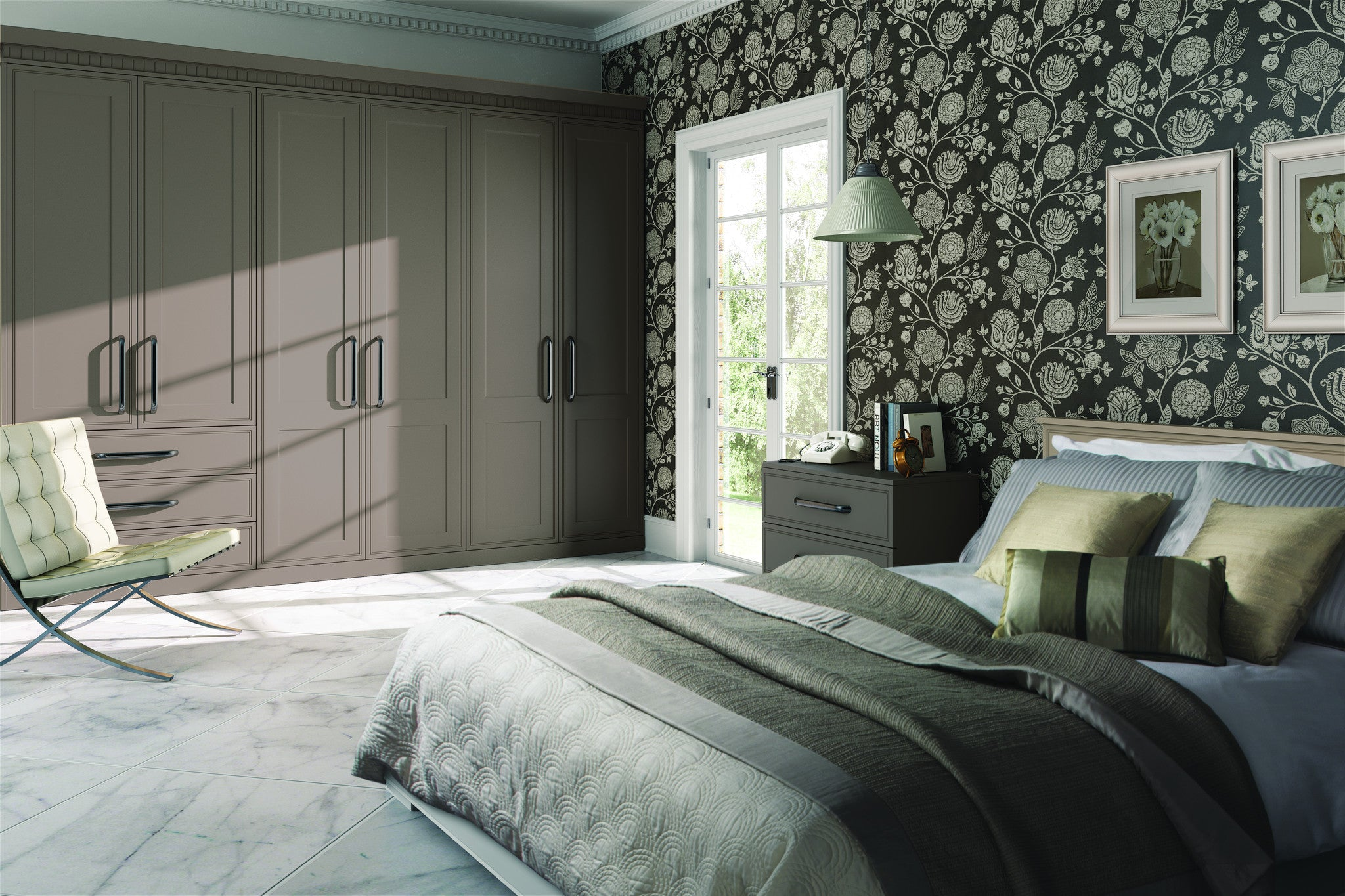 Tullymore stone grey wardrobe