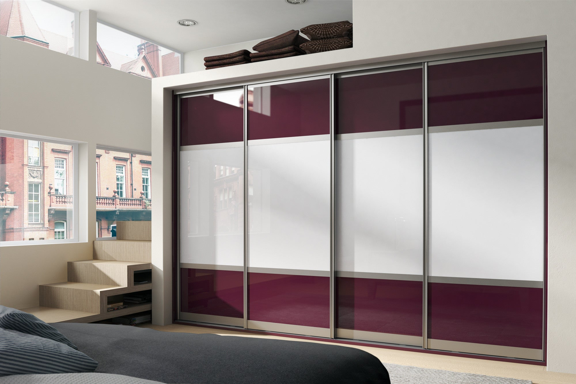 Aubergine glass wardrobe