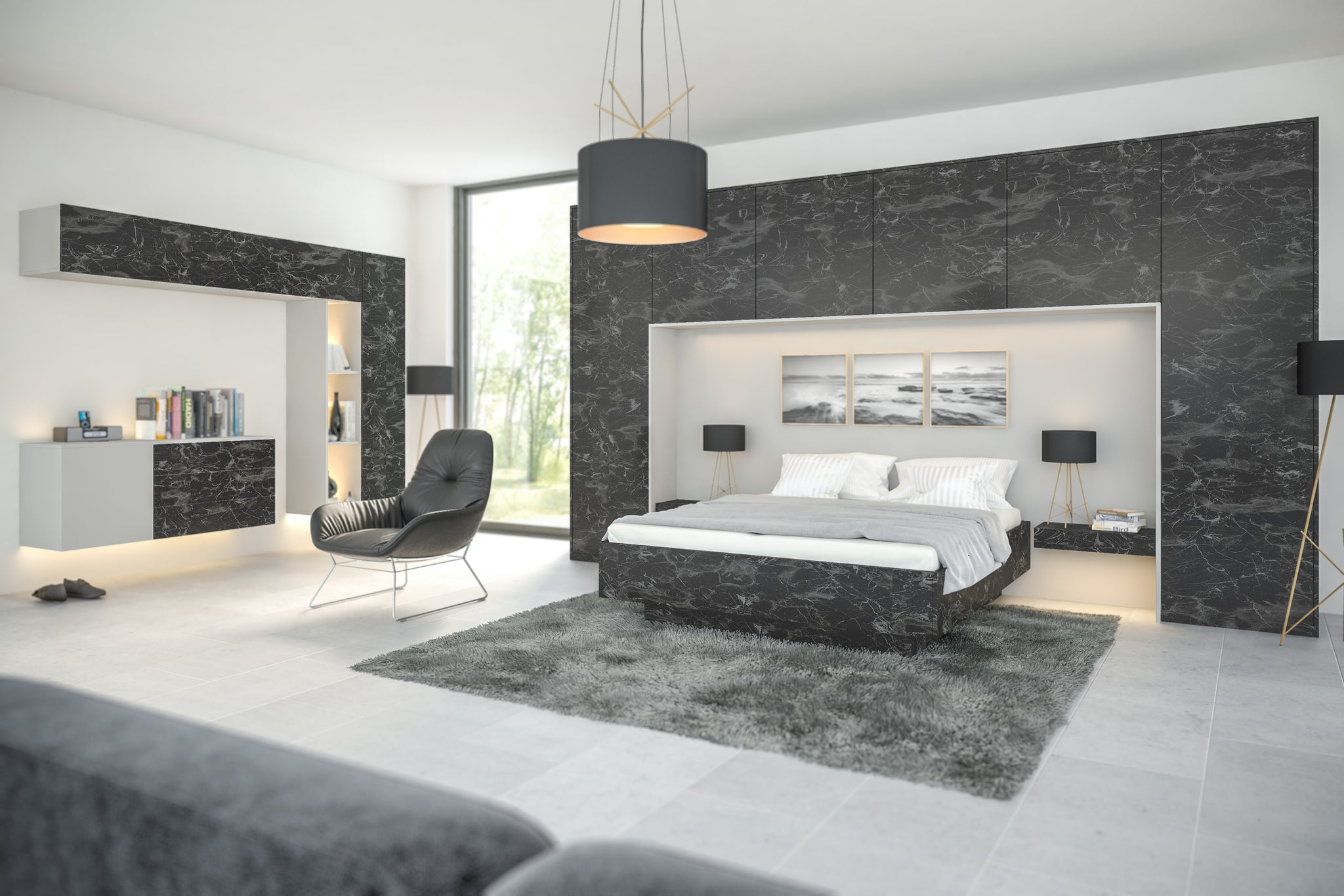 Oriental Black bedroom