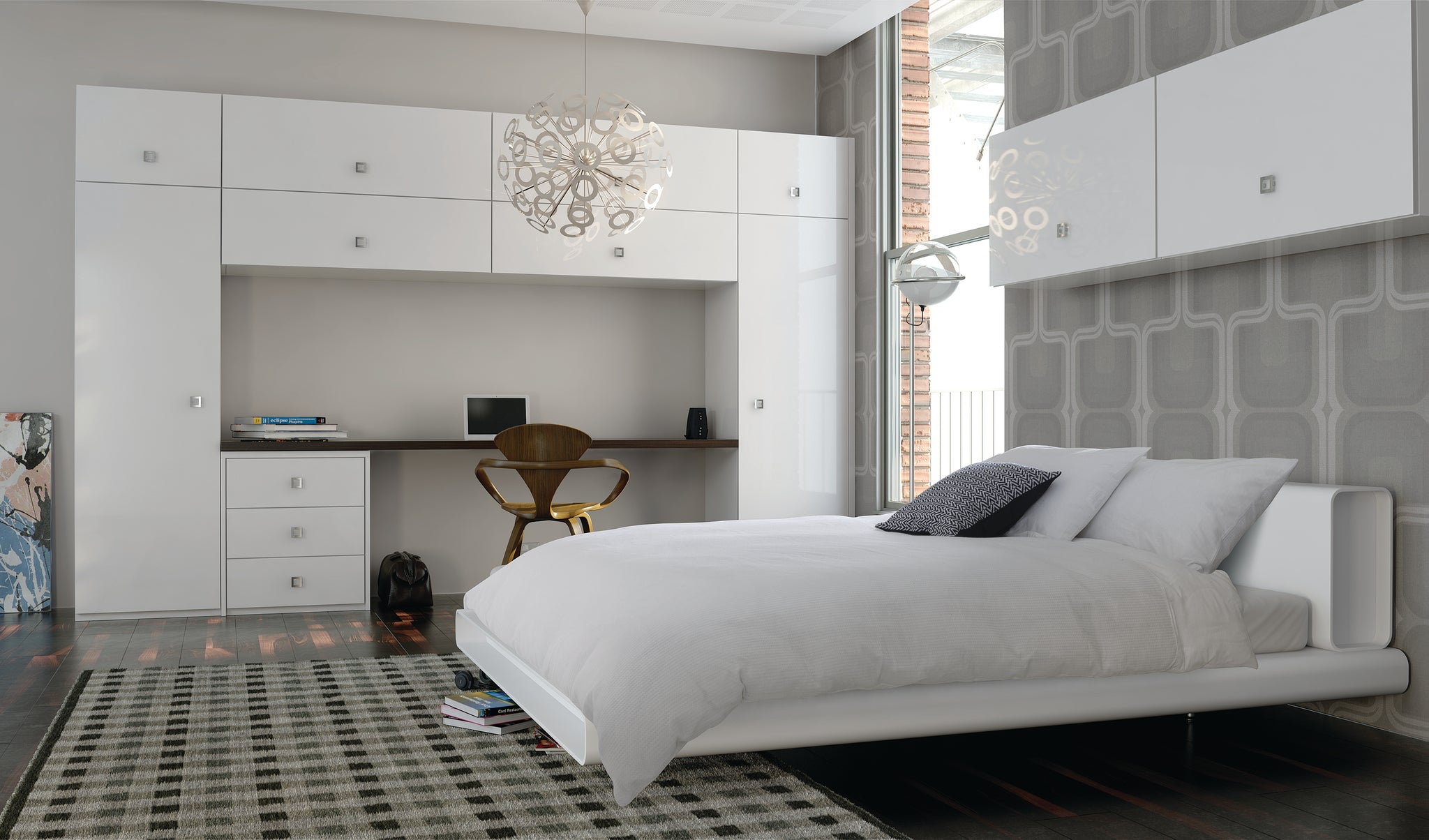 Ultra gloss white bedroom furniture