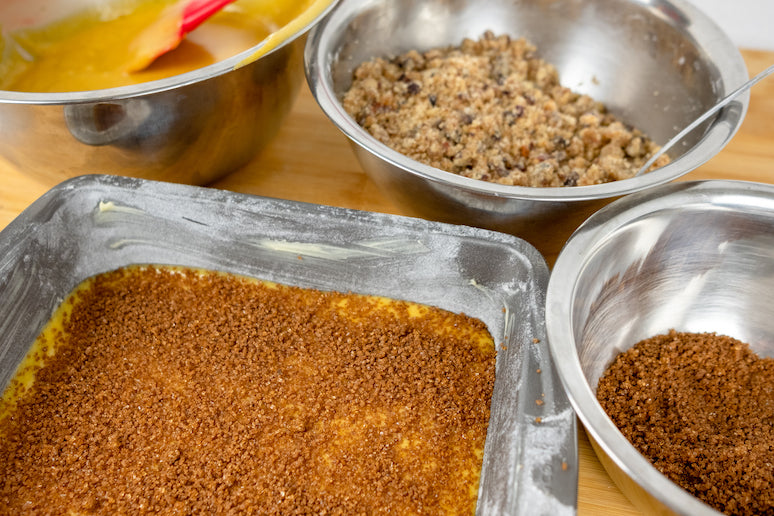 Pumpkin Coffee Cake filling and toppings