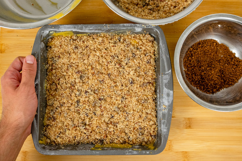 Pumpkin Spice Coffee Cake ready for the oven