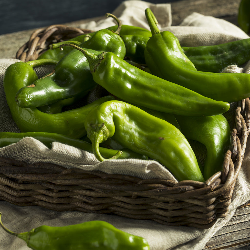 Basket of Hatch Green Chile