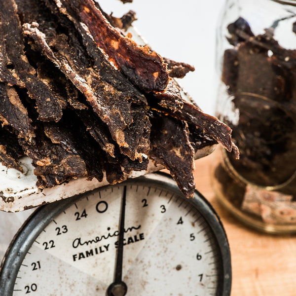 Beef Jerky Nutrition Facts Scale
