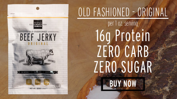 Keto Friendly Snack Zero Carb Zero Sugar Beef Jerky