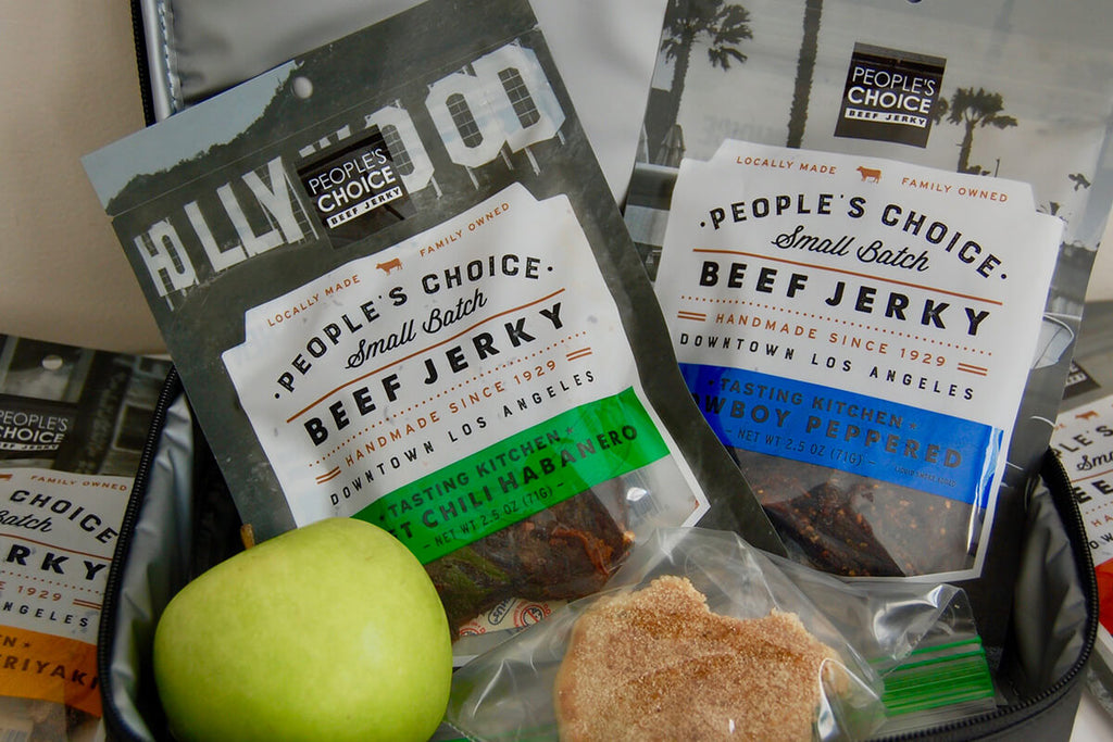 Beef Jerky balanced snack in a lunch box