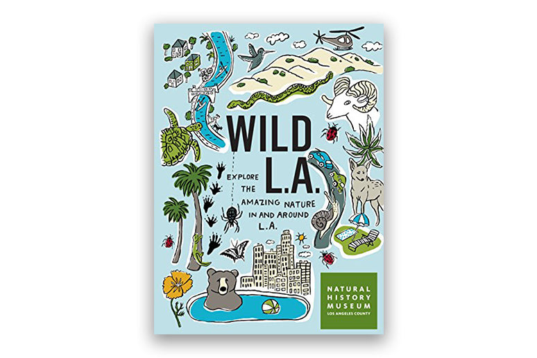 Hiking guide to LA on white background.