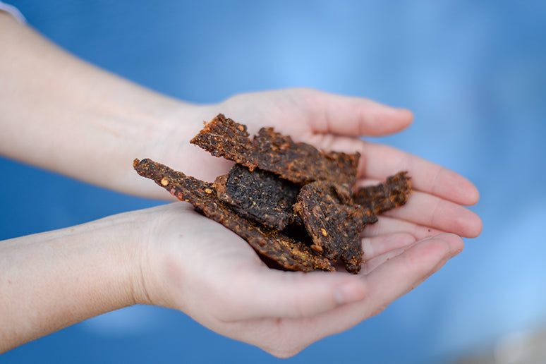 Both beef jerky and mushroom jerky are nutritious, compact, portable, and delicious!