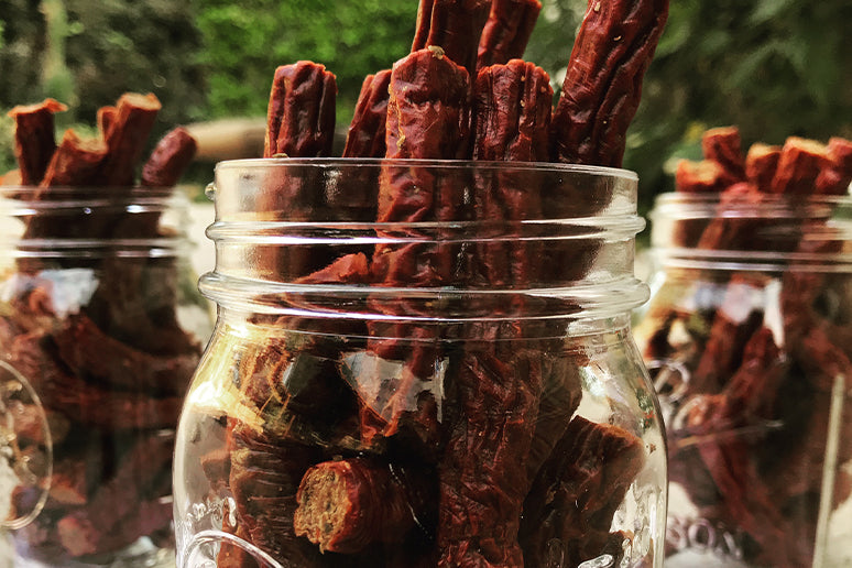 Storing beef jerky in mason jars is not recommended.
