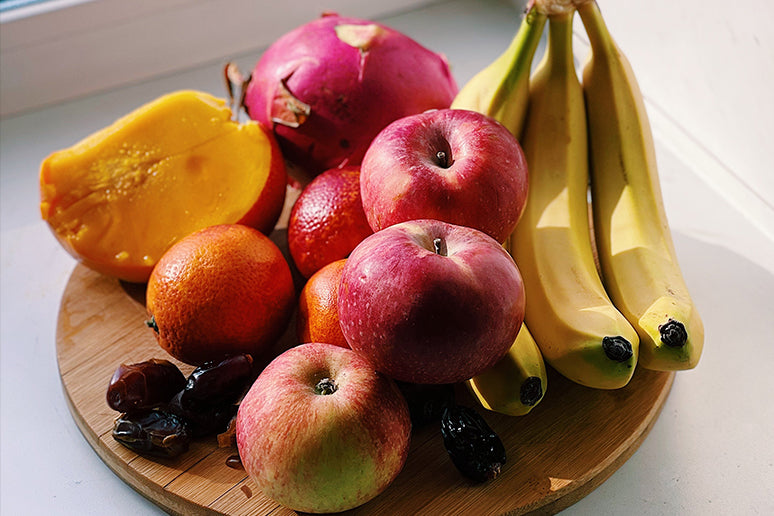 Mixed fruit on a table.