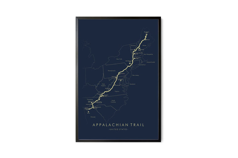 Picture of a hiking trail wall art
