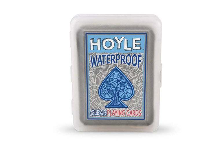 Waterproof playing cards.