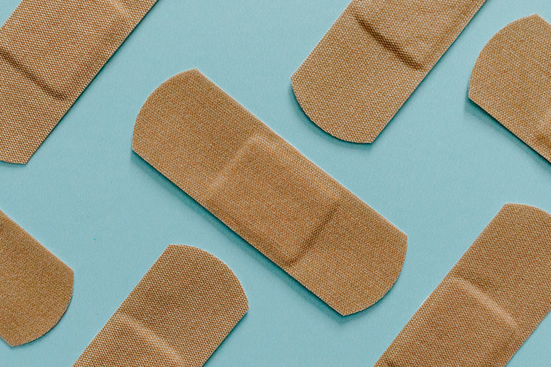 Bandaids are a must-have on the course.