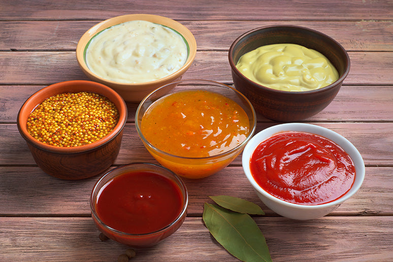 Keto-friendly condiments ready for delicious snacking.