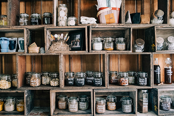 Pantry with mixed items