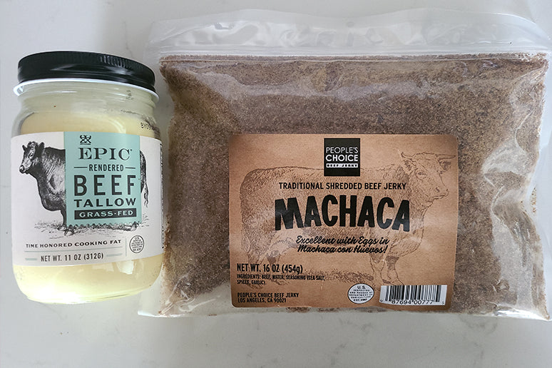 Tallow and Machaca ready for Pemmican.