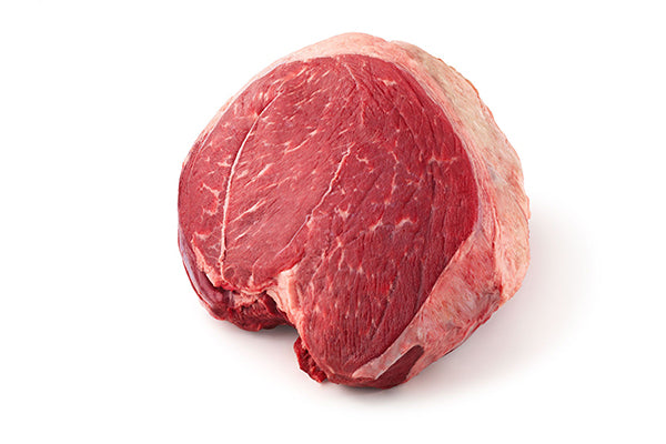 Raw piece of meat sirloin tip.