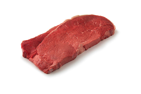 Raw piece of top round meat.