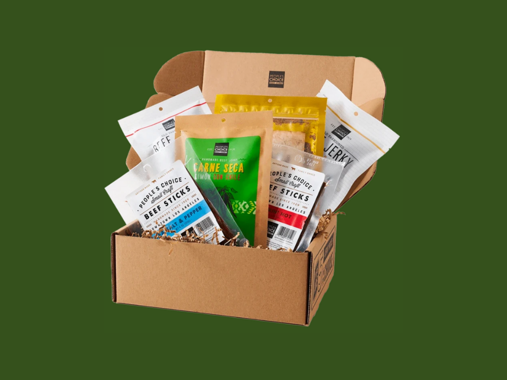 People's Choice Beef Jerky Health Nut Box