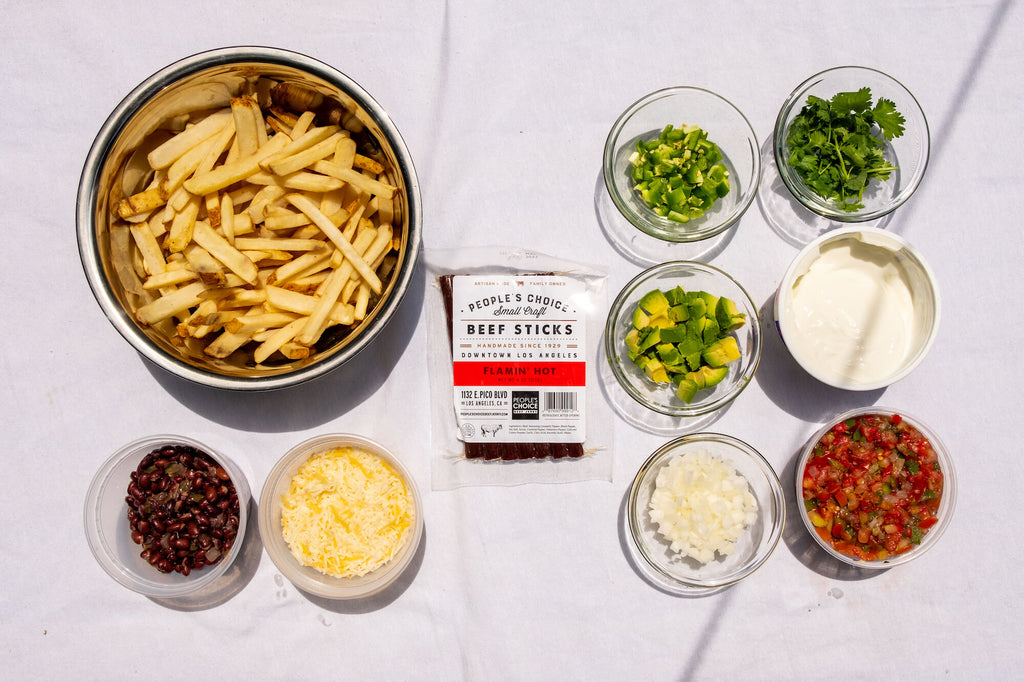 People's Choice Beef Jerky Flamin' Hot Nach Fries Ingredients