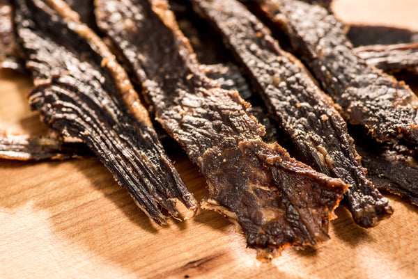 Old Fashioned pieces of beef jerky