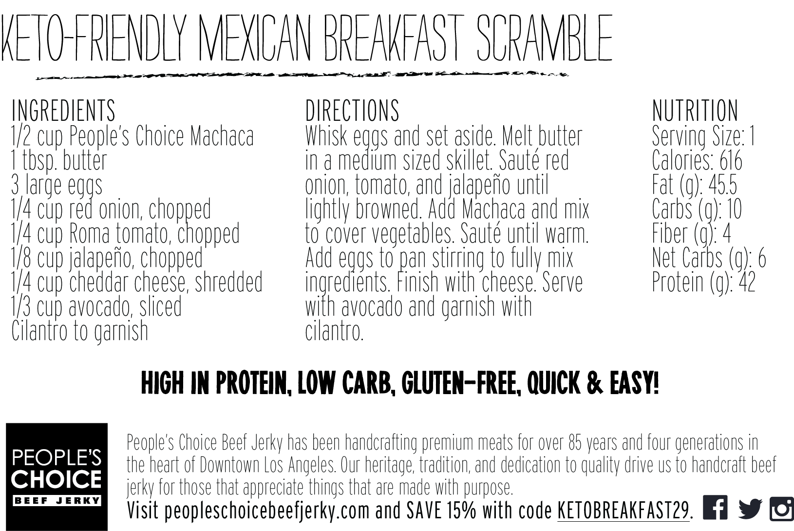 Keto-Friendly Mexican Scramble