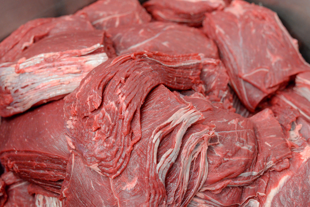 Sliced Beef Jerky Meat Top Round Raw