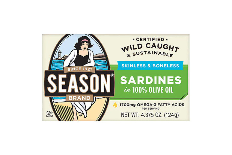 Season Skinless & Boneless Canned Sardines in Olive Oil, 6-count