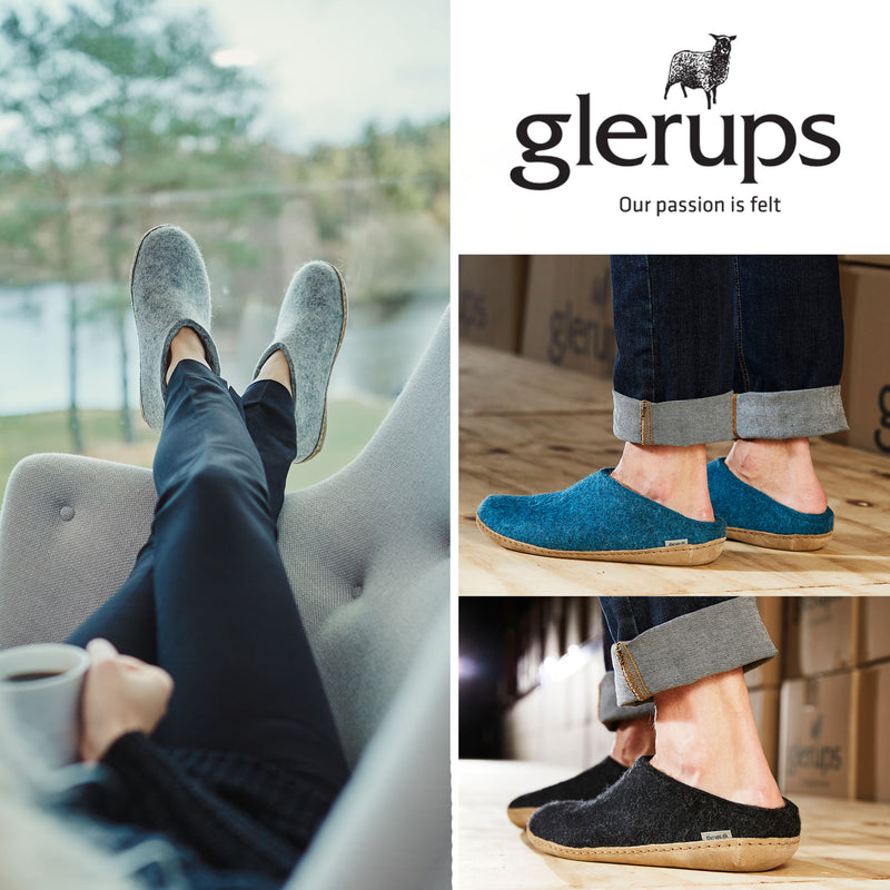 Glerups slippers for men and women