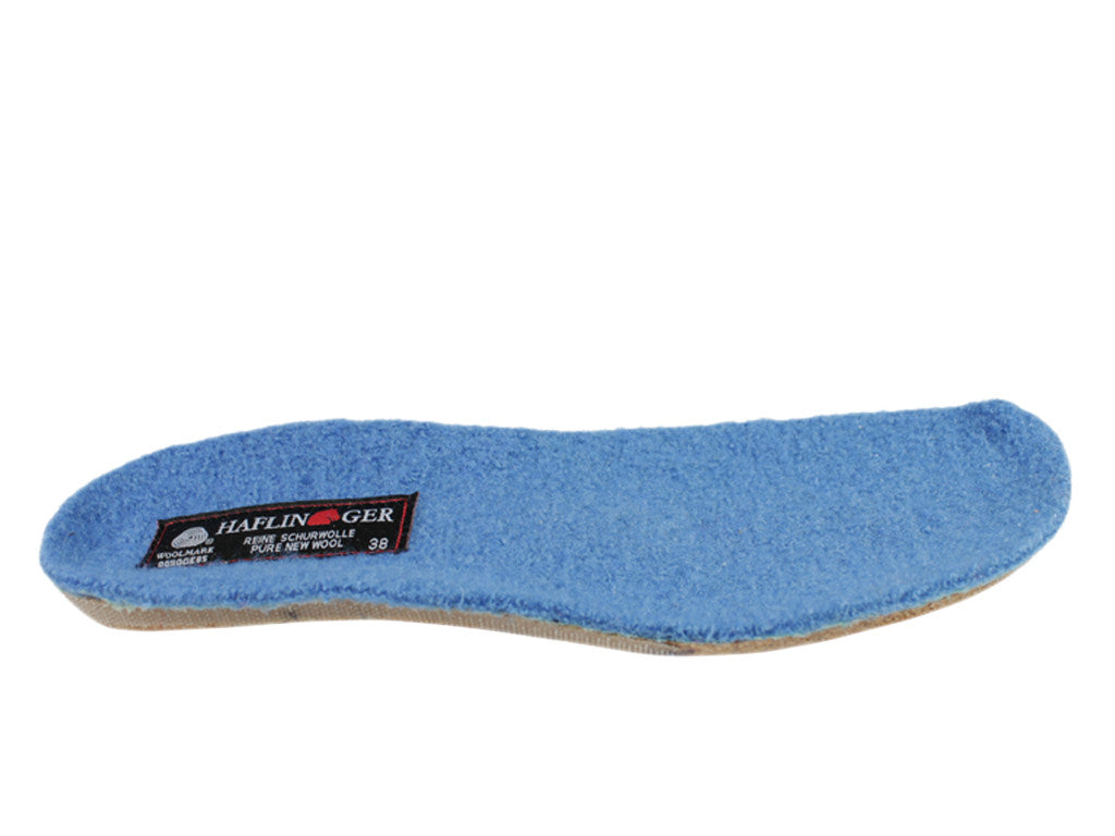 Haflinger Everest Classic Light Blue Slippers with knitted trim