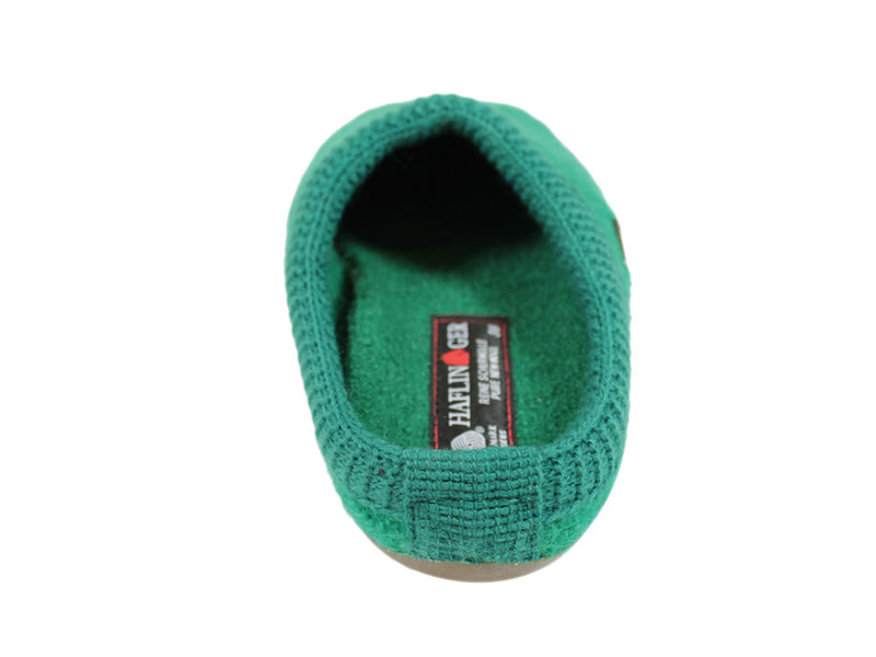 Haflinger Slippers Everest Classic Emerald Green