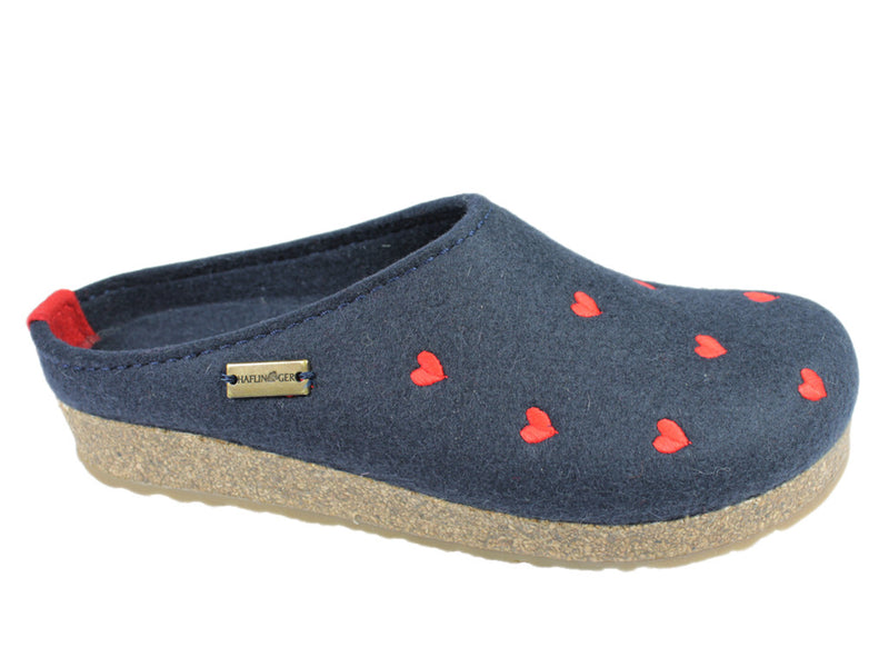 Haflinger Clogs Grizzly Sweetheart Navy