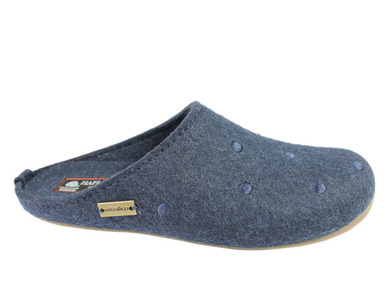 Haflinger Slippers Everest Noblesse Kapitan Blue
