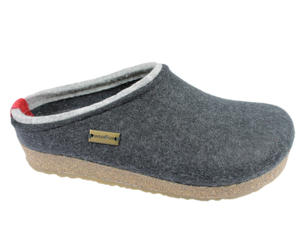 Haflinger Grizzly Kris Felt Clogs Graphite/Grey