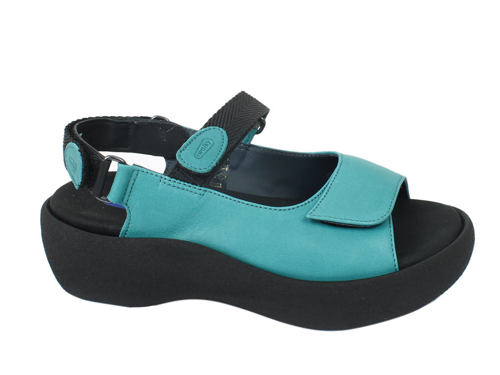 Wolky Sandals Jewel Aqua Blue side view