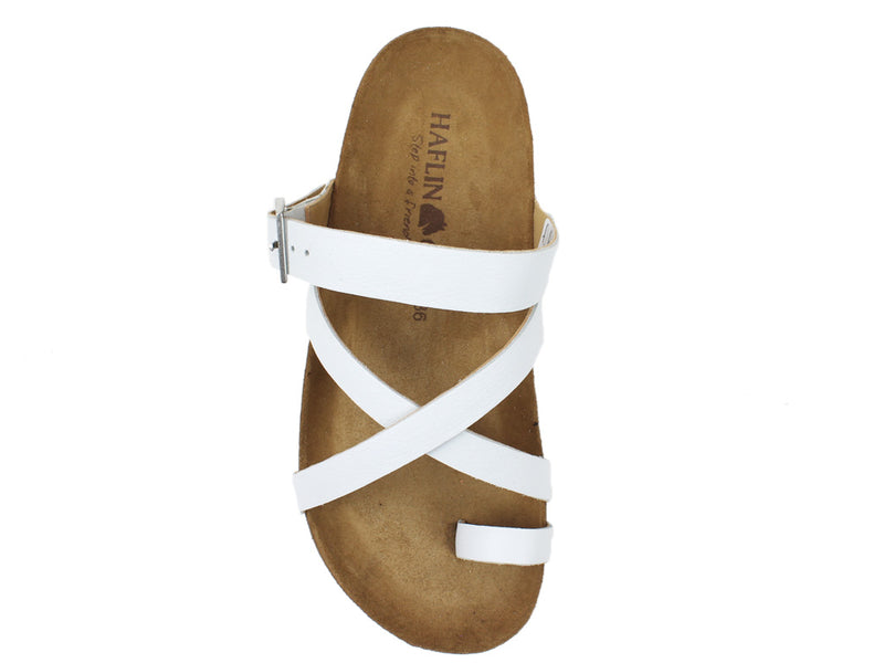 Haflinger Sandals Luna White top view
