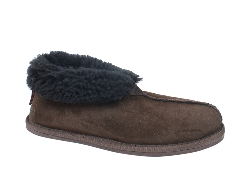 Celtic & Co Slippers Sheepskin Bootee Mocca side view