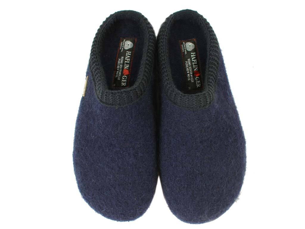 Haflinger Slippers Everest Classic Ocean upper view