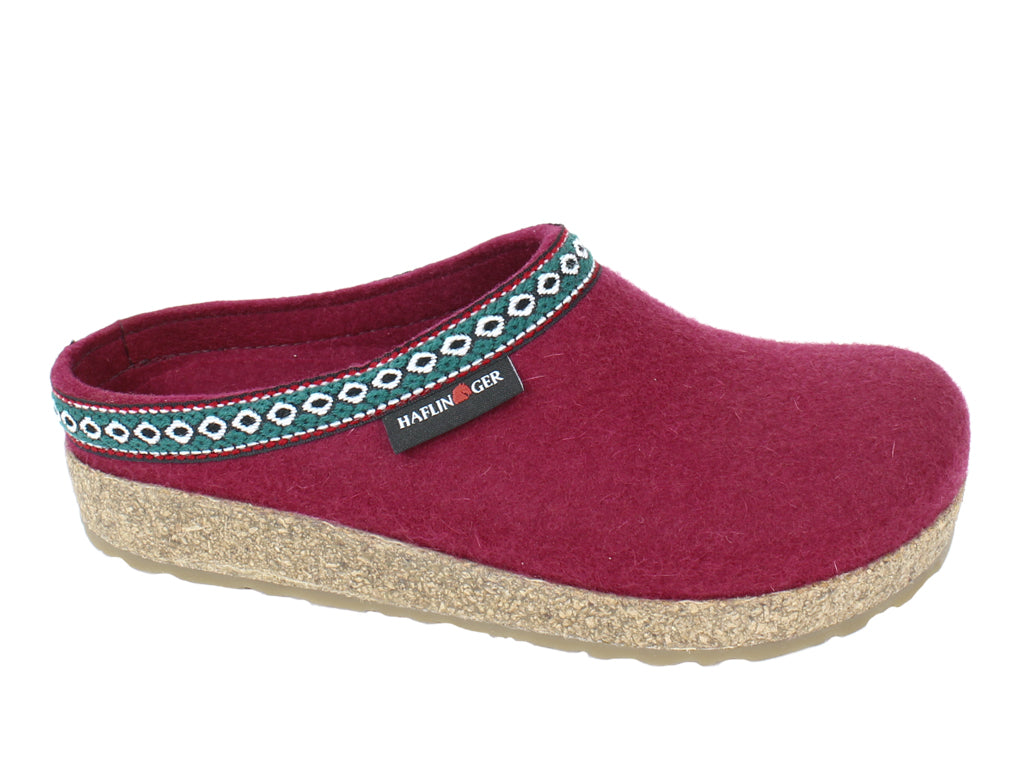 Haflinger Felt Clogs Grizzly Franzl Port side view