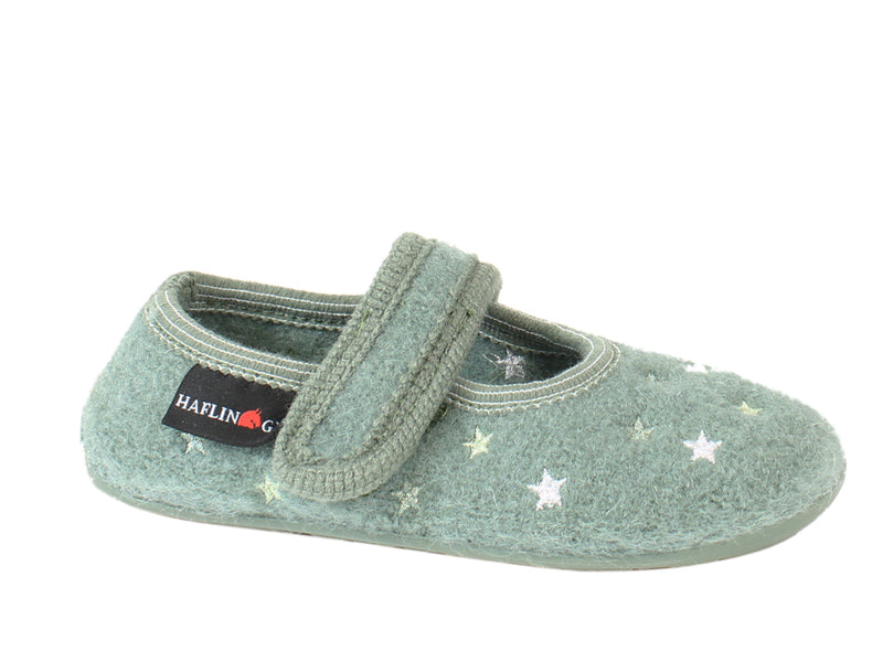 Haflinger Children's slippers Everest Sturdust Kiwi side view